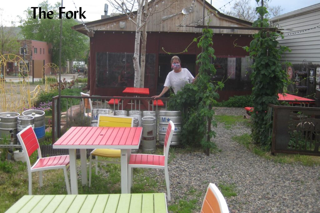 The Fork restaurant, during covid
