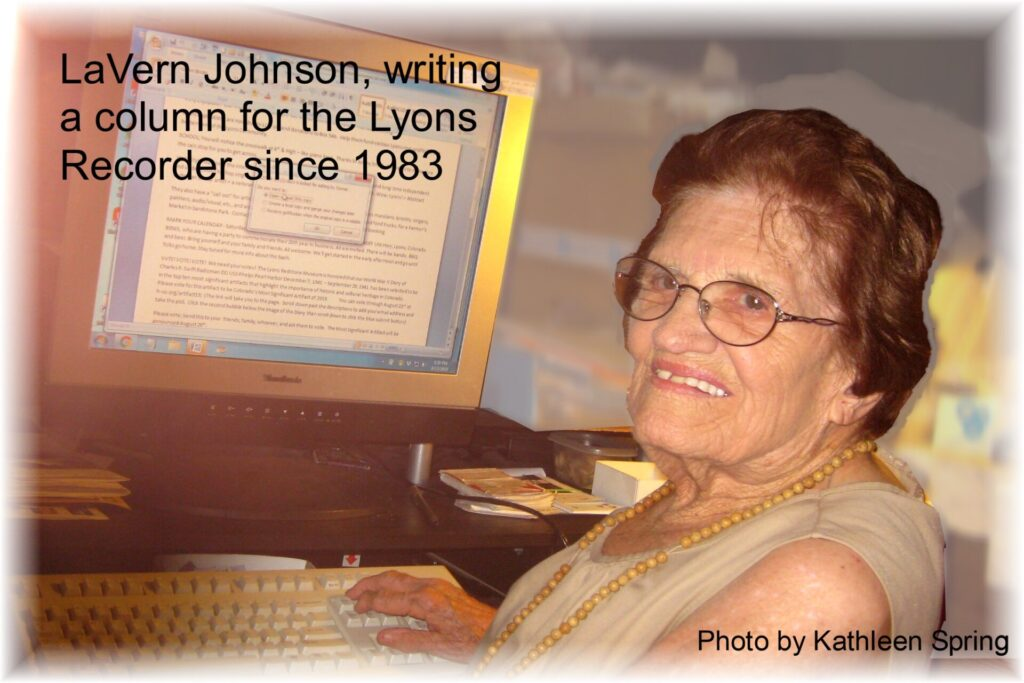 LaVern Johnson at her computer