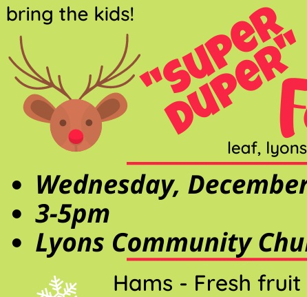 LEAF brings Holiday thanks and cheer to Lyons