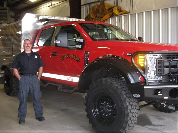 fire captain and new truck
