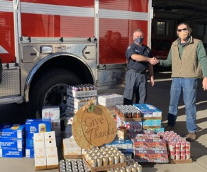 Lumber Liquor donating to firefighters by RBatson