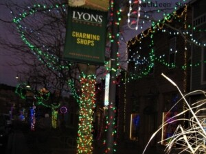 downtown Lyons Christmas lights 2020 by KSpring