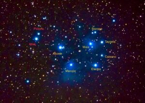 7 sisters of Pleiades by Keith Gleason