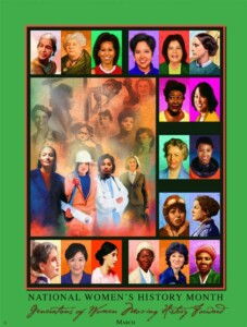 poster of variety of women - Natl Hist Mo