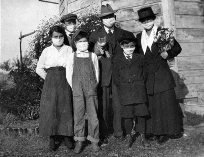 1918 family during pandemic