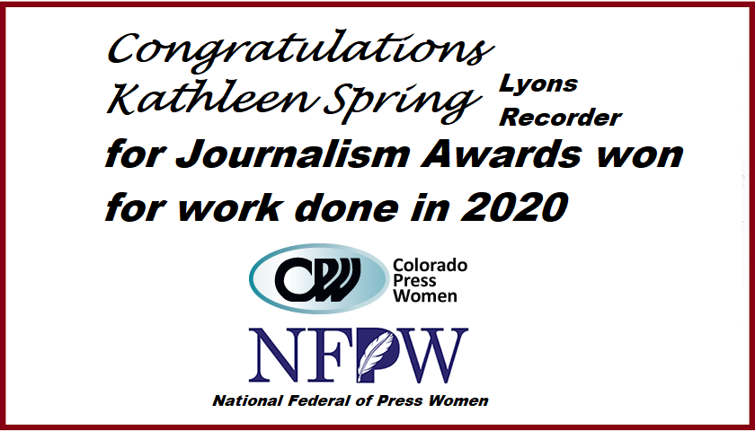 Journalism Awards won in 2020 by KSpring/LyRecorder