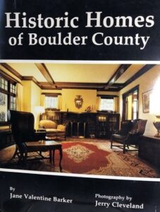 book: Historic Homes of Boulder County