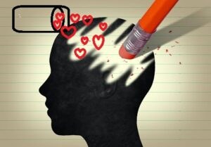 erase bad memories and replace with hearts - graphic