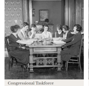 woman at a table, turn of century, Women History web page