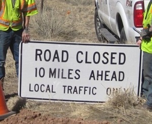 road construction sign, 10 mile ahead, by KSpring