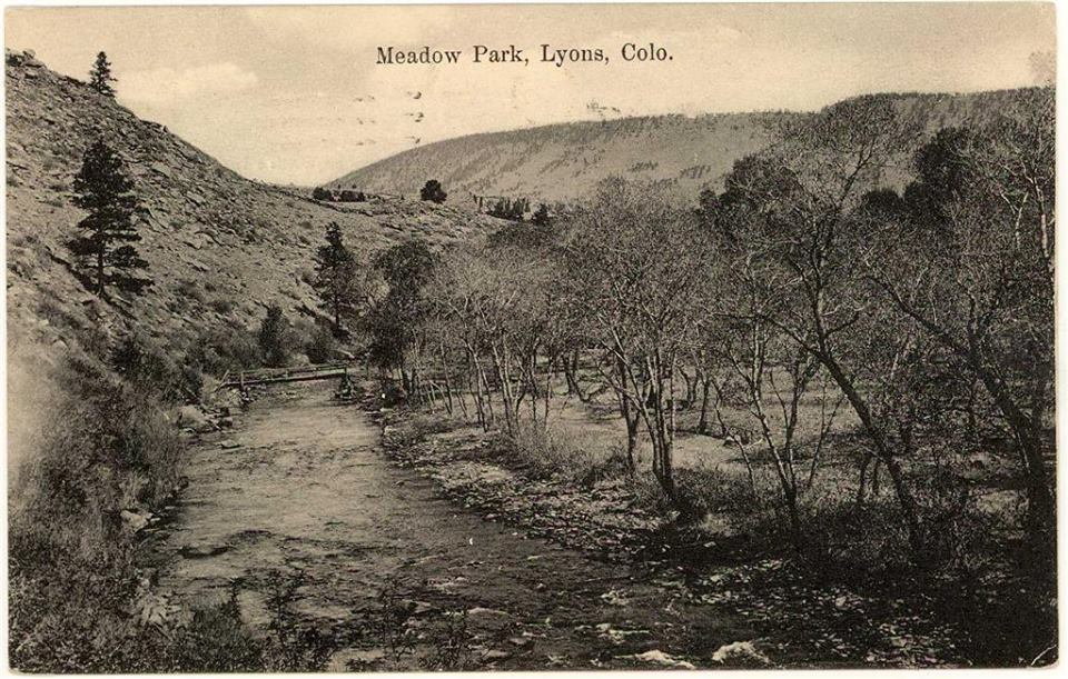 old-time post card of Meadow Park