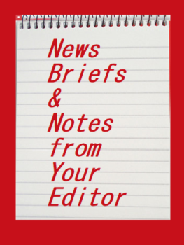 logo /news briefs, Notes from your editor