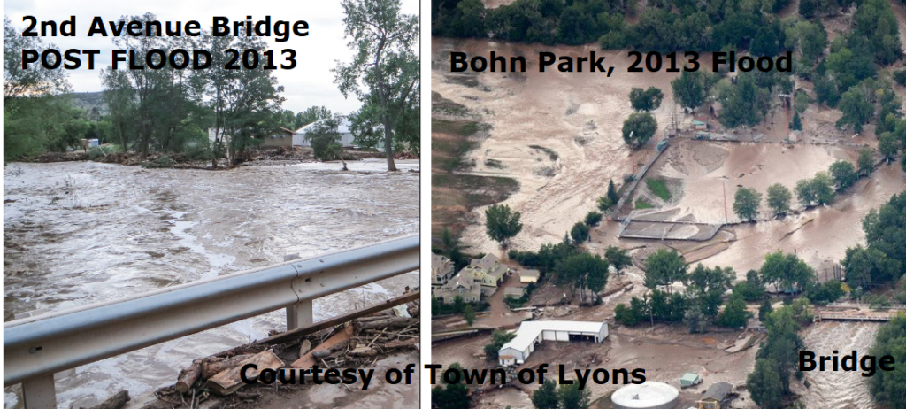 Flood 2013 - before and after Bohn Park