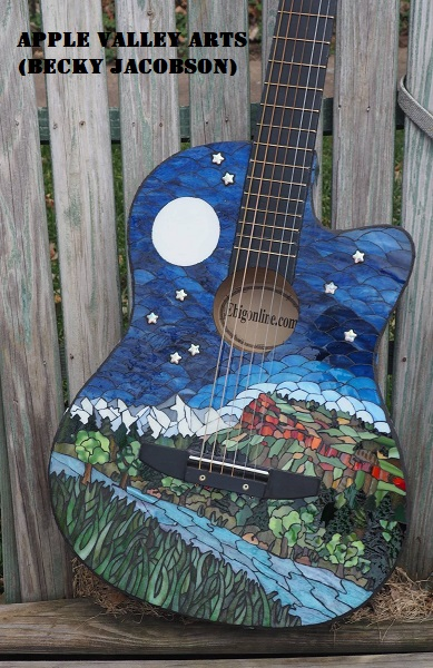 stained glass guitar by Becky Jacobson