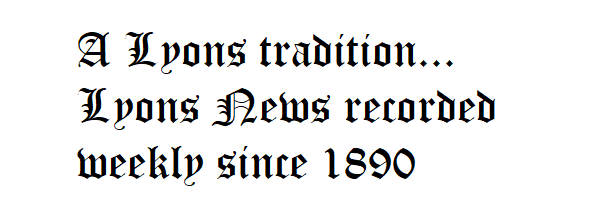 Lyons tradition - weekly newsp - graphic by KSpring